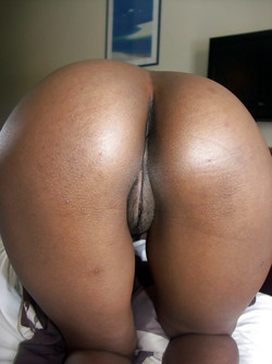 An incredibly round ebony asses,..
