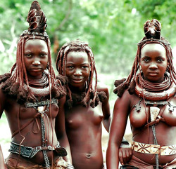 Naked girls from african tribe,..